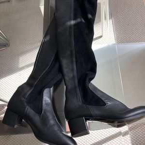 Zara real leather boots